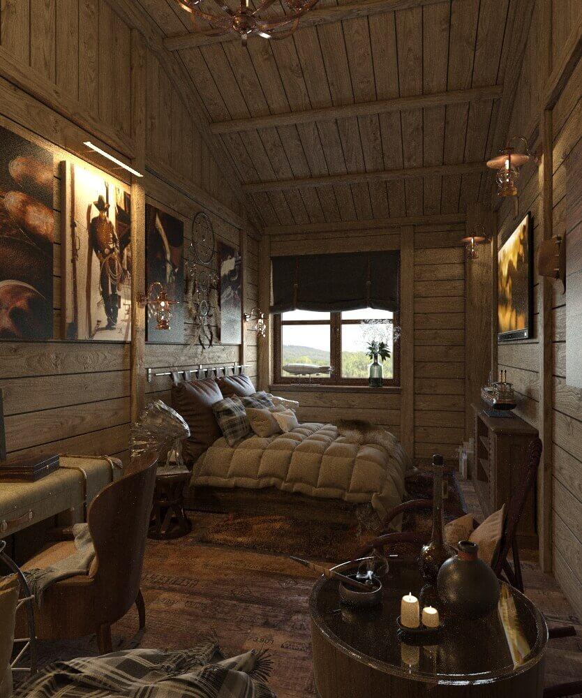 спальня дикий запад