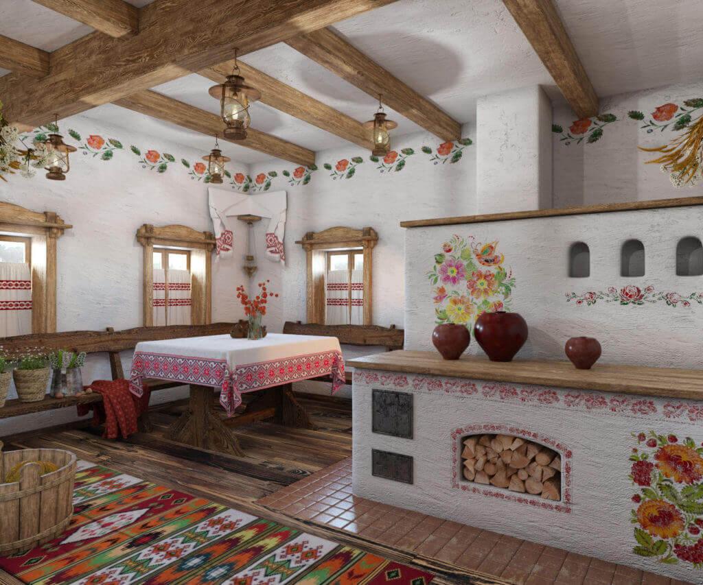 в украинском стиле загородный дом