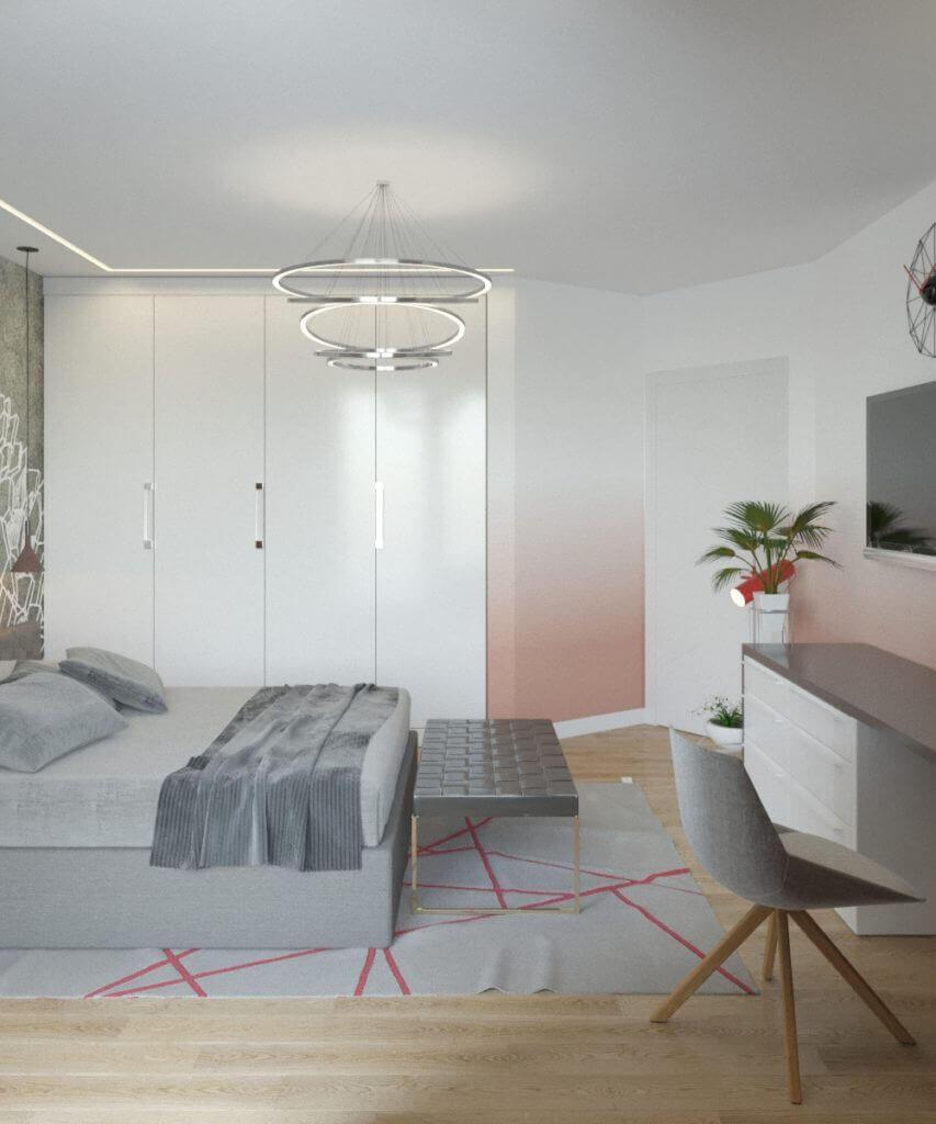дизайн интерьера спальни проект Grapefruit