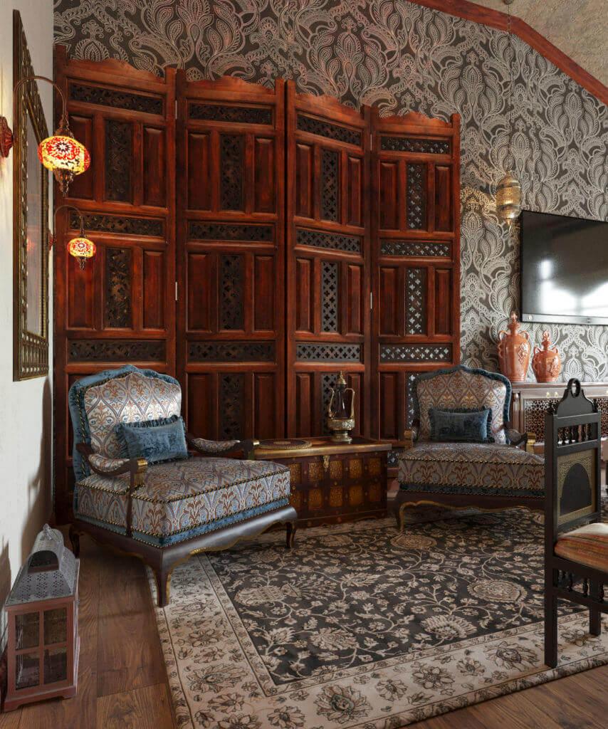 дизайн спальни в восточном стиле