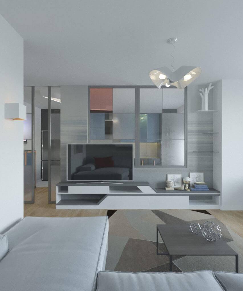 дизайн интерьера гостиной проект Grapefruit