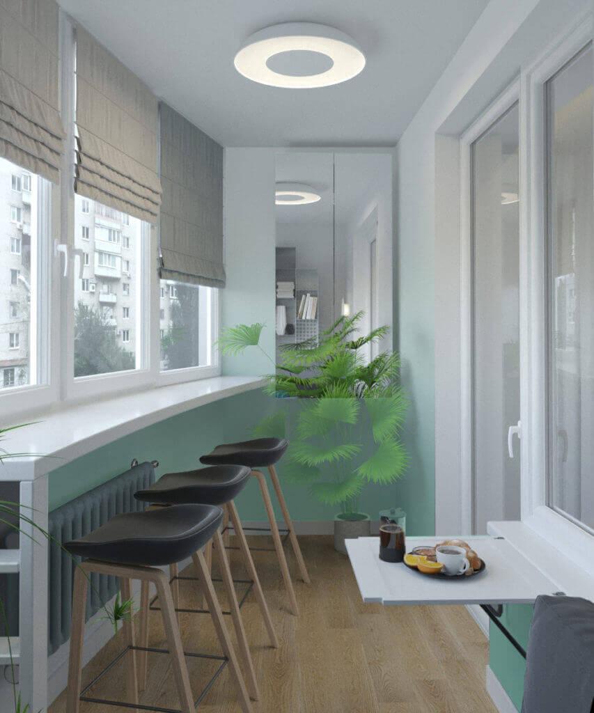 интерьер балкона проект Grapefruit