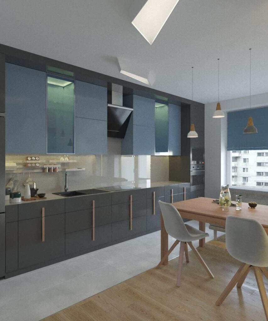 дизайн интерьера кухни проект Grapefruit