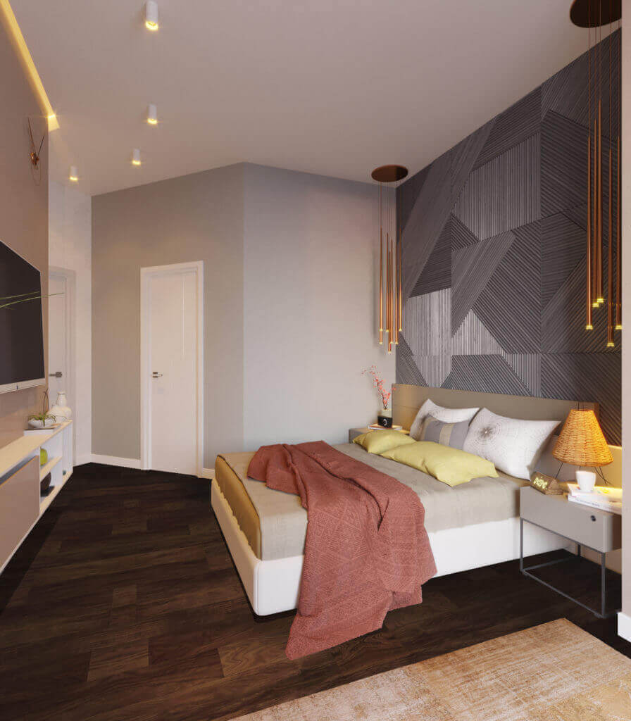 дизайн спальни проект Shade