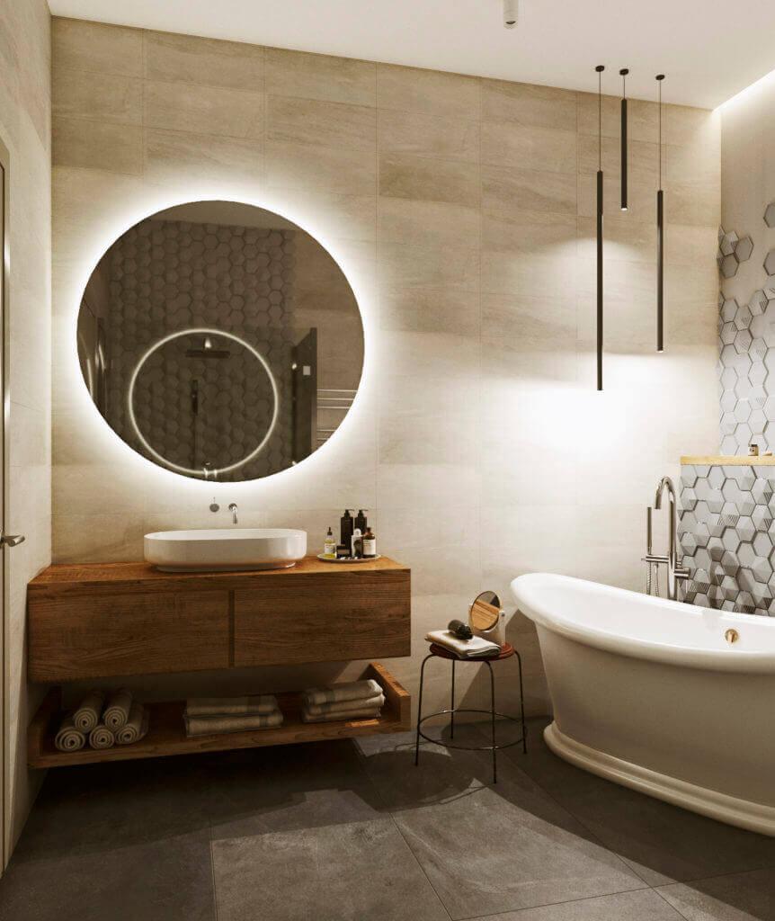 интерьер ванной комнаты проект Shade