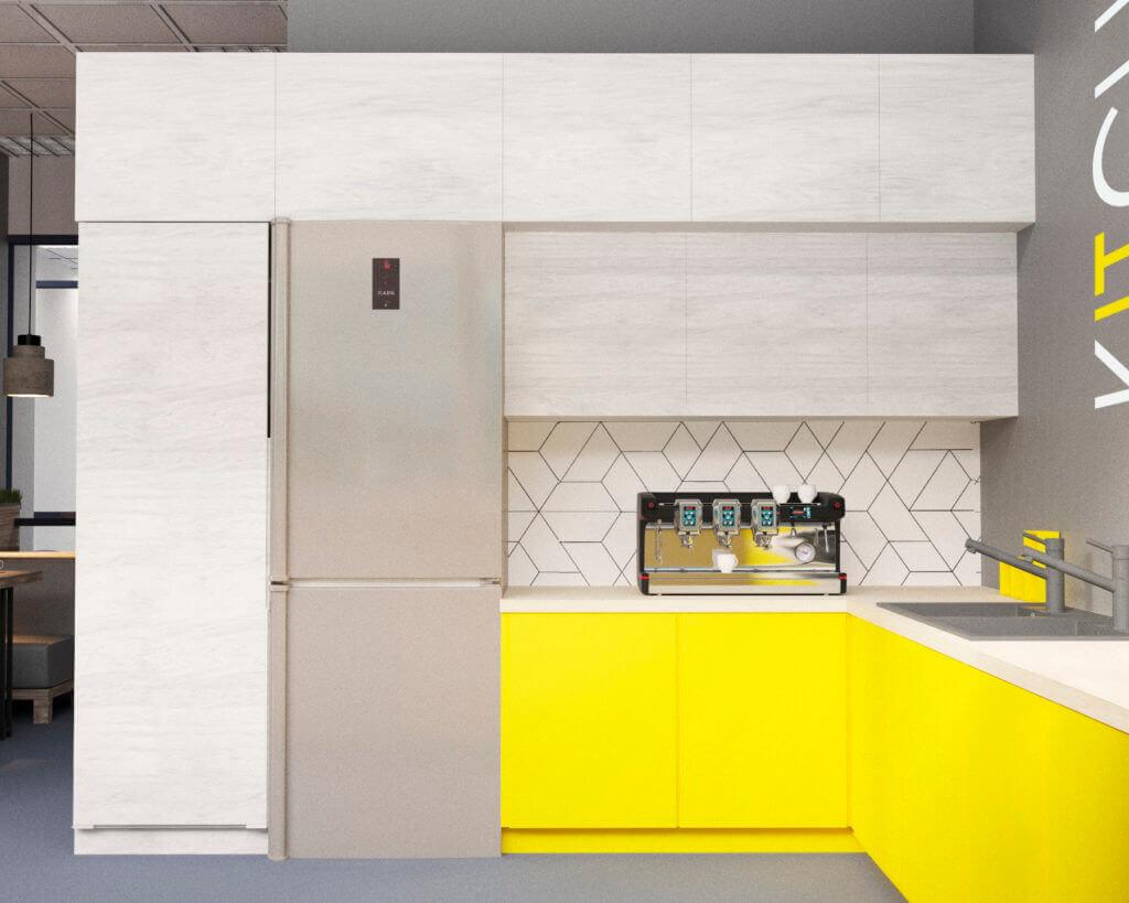 Дизайн интерьера кухни для офиса