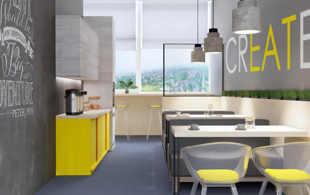 дизайн интерьера обеденная зона для офиса