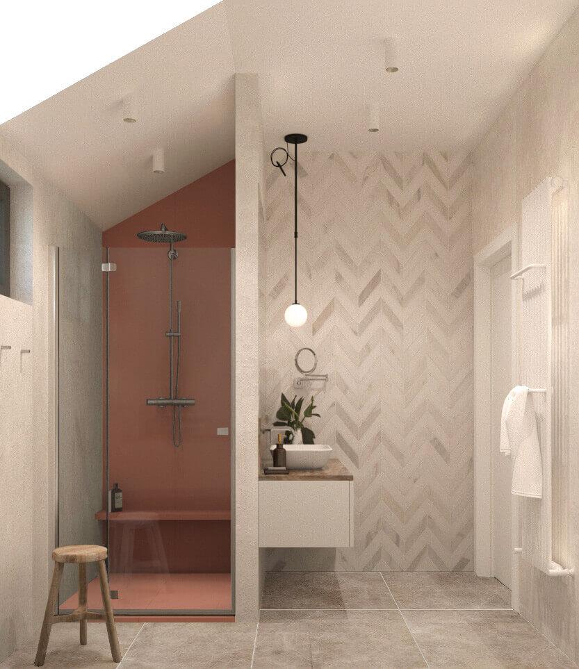 интерьер душевой комнаты
