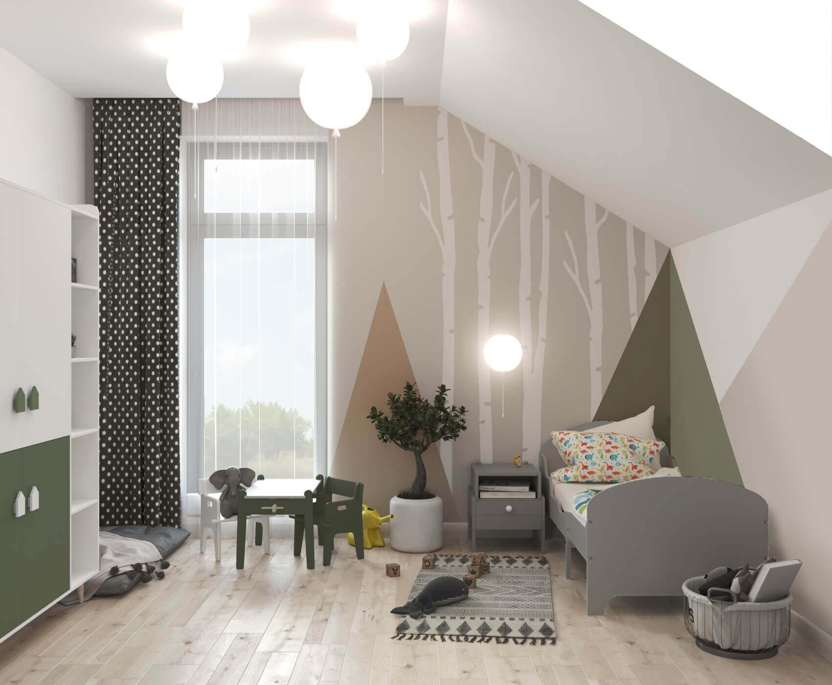 дизайн детской комнаты сказочный лес