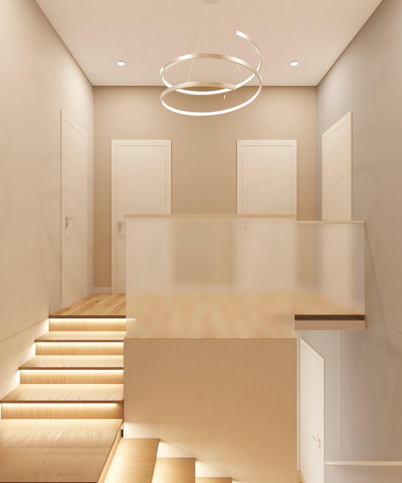 дизайн лестницы проект Ginger