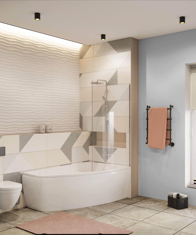 дизайн ванной комнаты проект Ginger