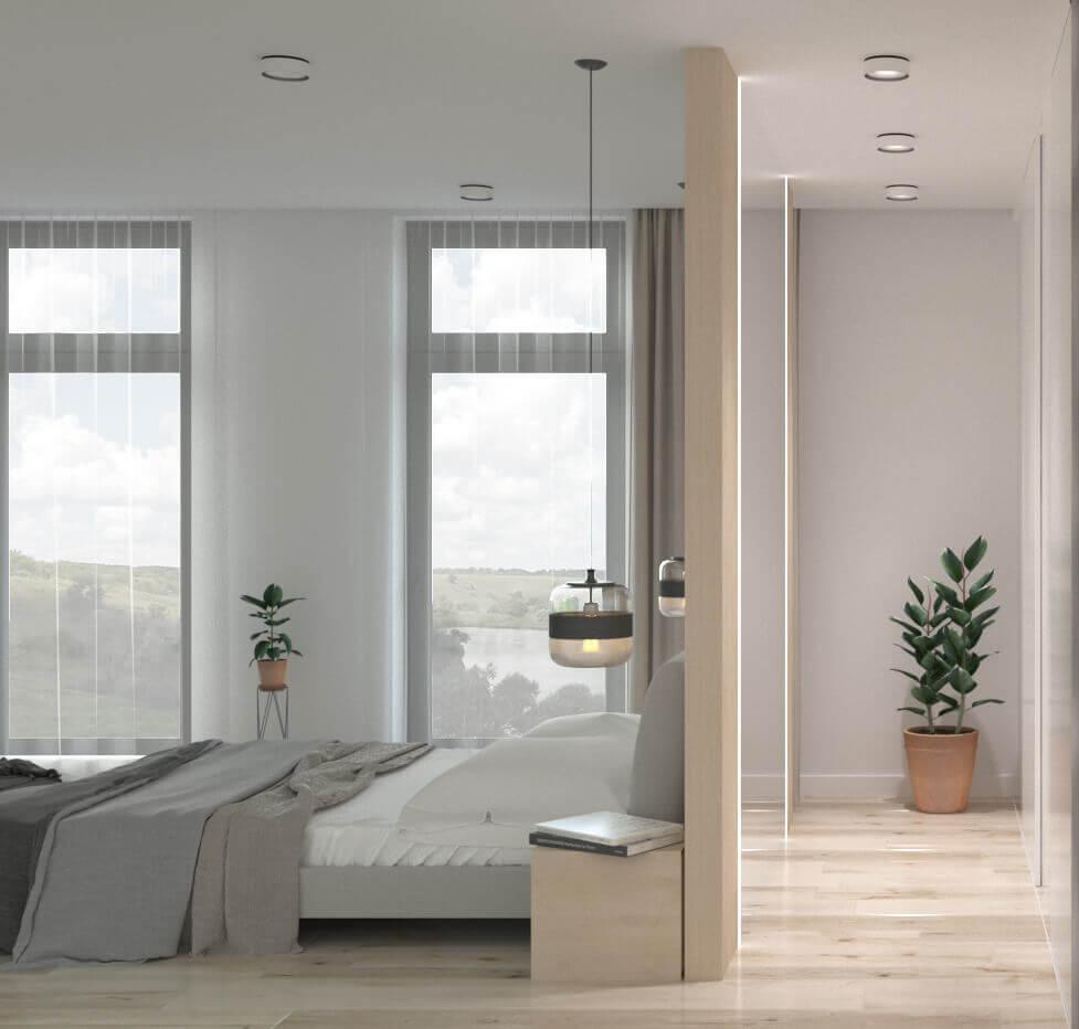 дизайн светлой и уютной спальни