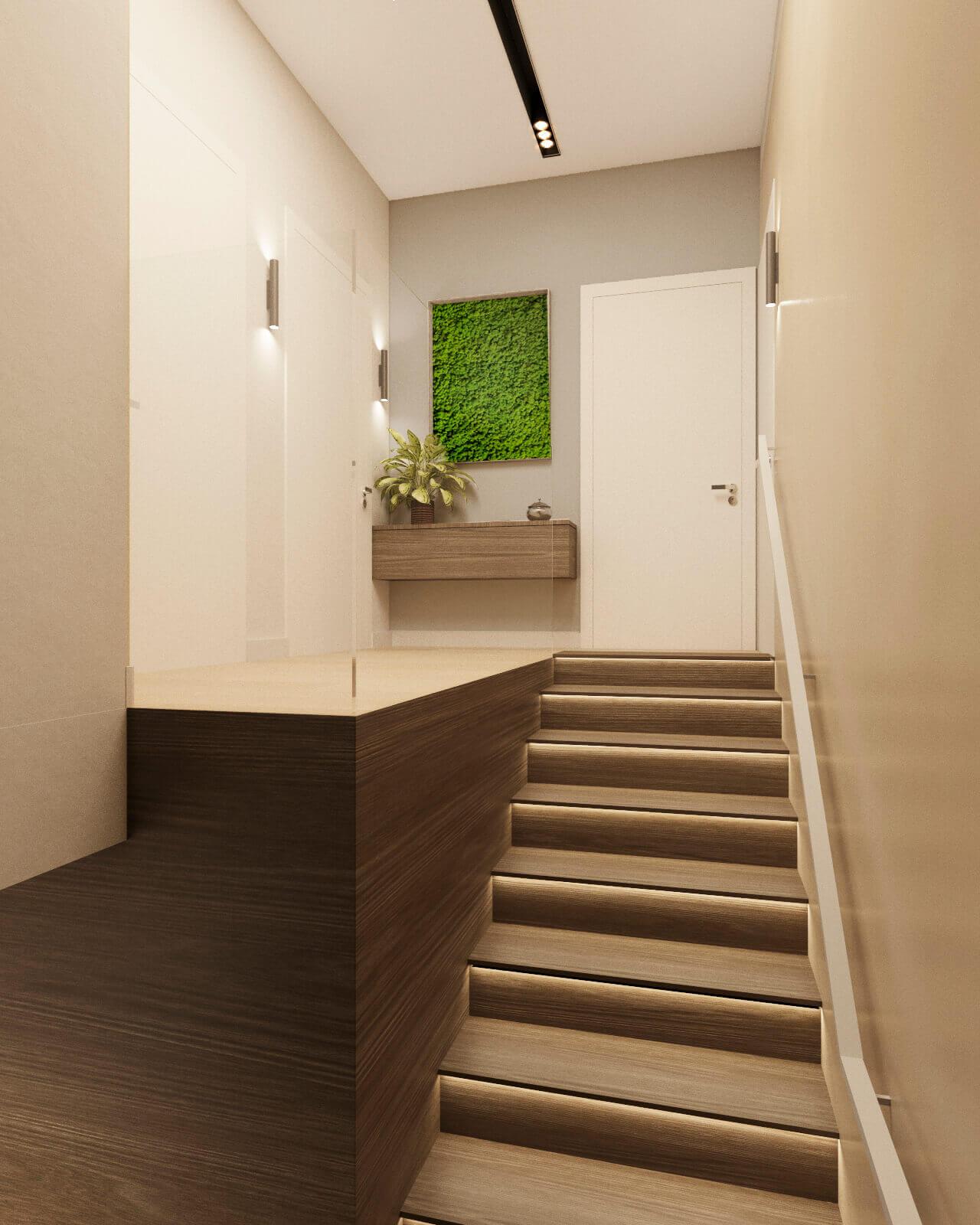 дизайн холла и лестницы