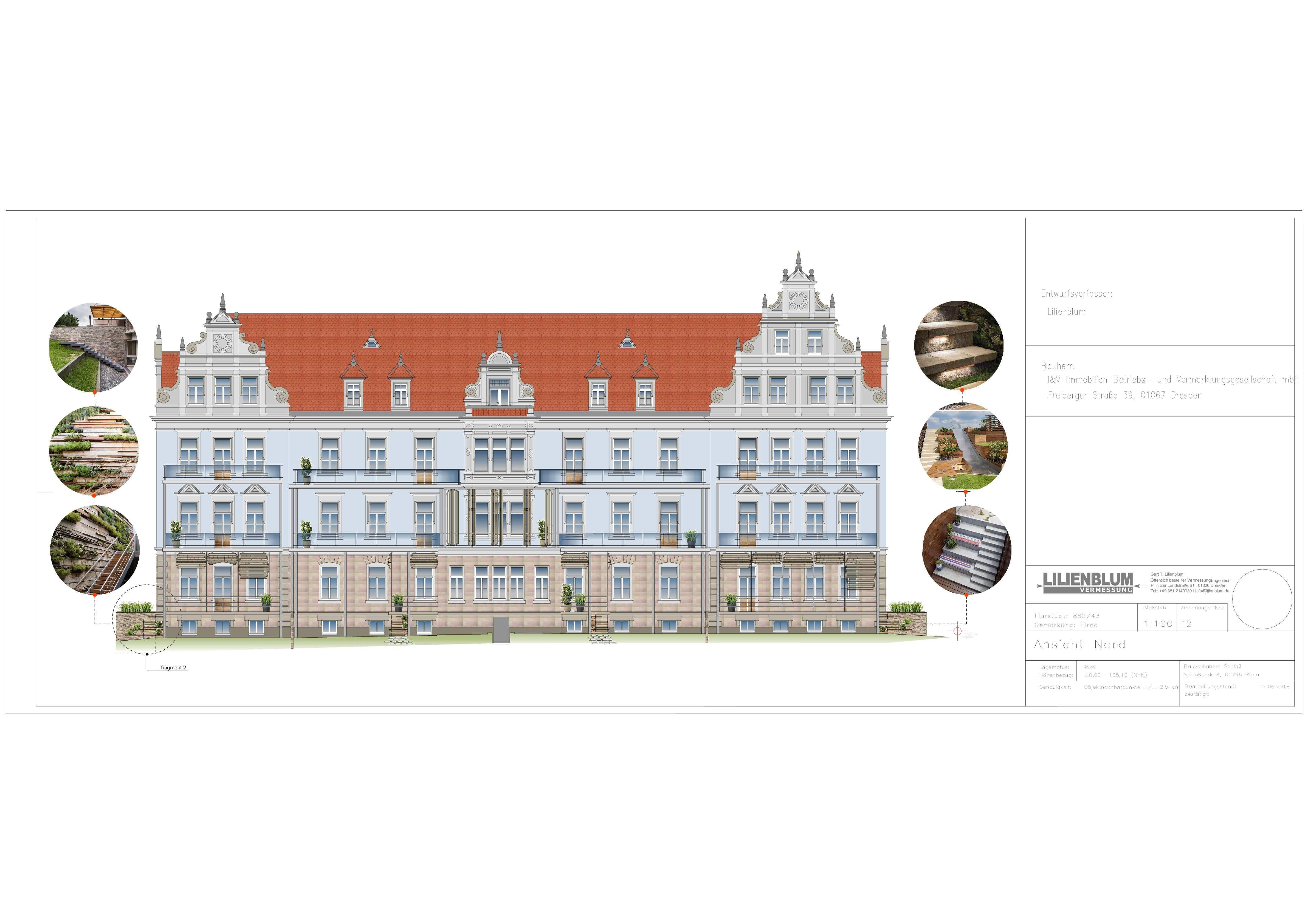 реконструкция фасада здания Пирна
